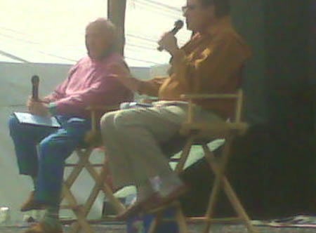 Bud Collins and Charlie Pasarell in Indian Wells 2008