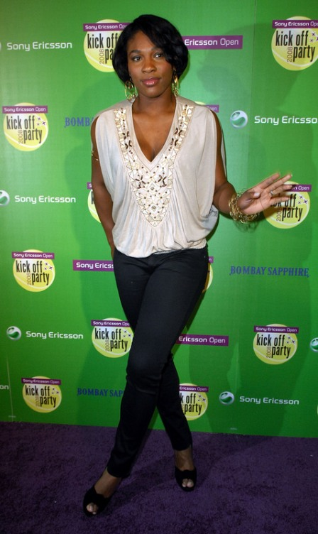 Serena Williams - Sony Ericsson Kick-off party