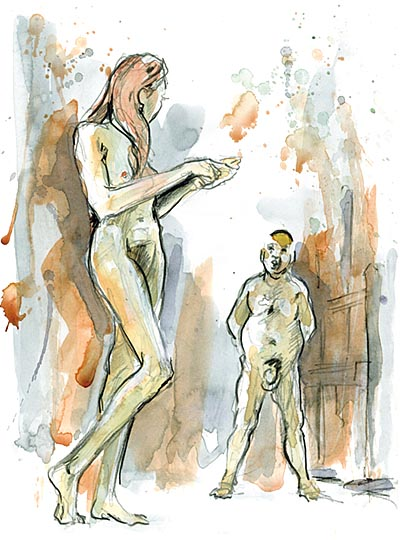 The speechlessness of the artist when looking at the Muse