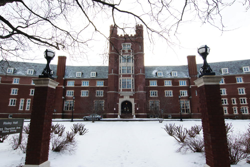Cornell Police arrested a former student who is allegedly  responsible for suspicious chemicals found in Risley Hall in January. (Jason Ben Nathan / Sun Staff Photographer)