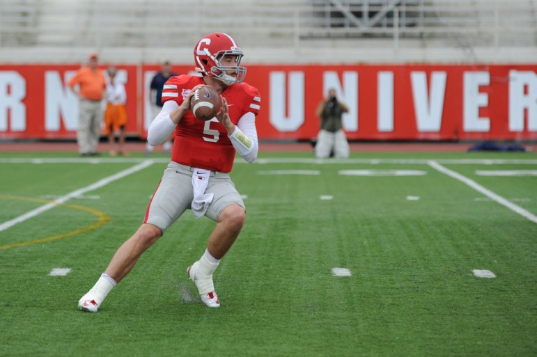 Junior quarterback Robert Somborn has done nothing to lose his job in the early part of the season after a pre-season positional competition. (Brittney Chew / Sun News Photography Editor)