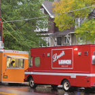 The That's How I Roll and Louie's Lunch food trucks cater to students' late-night food needs on North Campus.