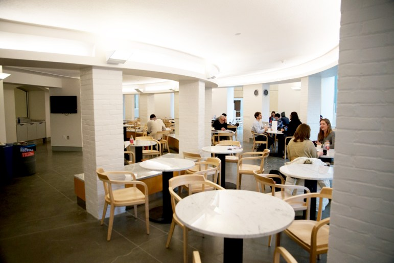 Klarman Hall also houses Temple of Zeus café.
