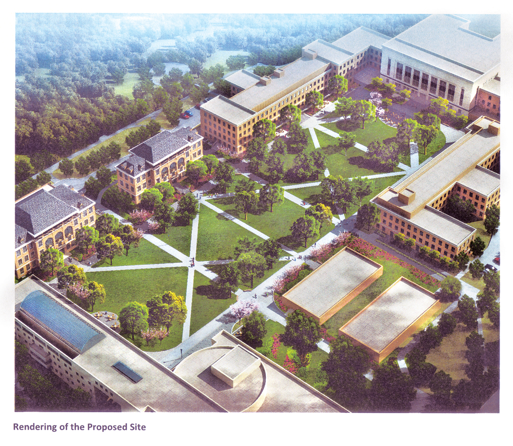 An ariel view of the proposed changed to the Ag quad.