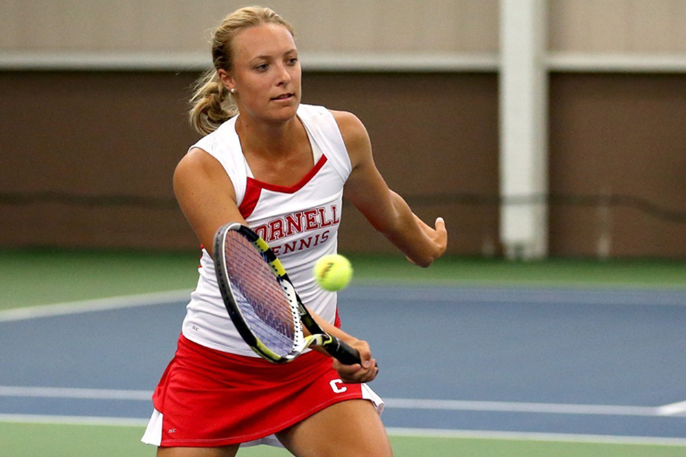 Senior Jane Stewart helped the Red to victories over UConn and Ablany