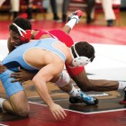 Nahshon Garrett won both his matches as Cornell surged past Penn and Princeton.