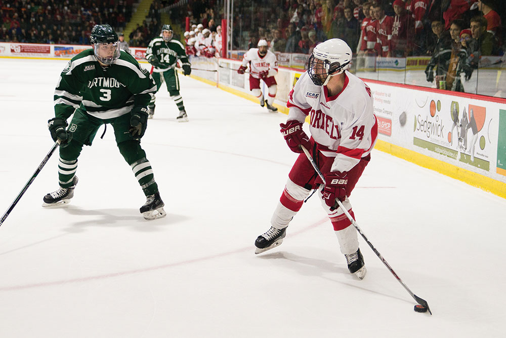 The men's hockey season took a positive turn this weekend when the team's win against Princeton halted the Red's winless streak at seven games.