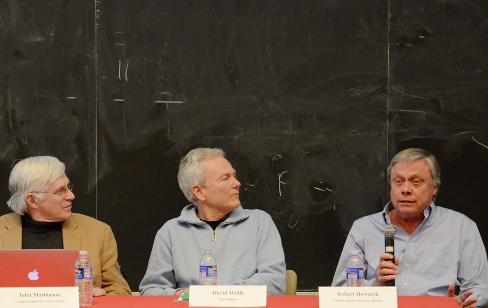 Three professors discuss the urgency of climate change initiatives given the perceived impact on local communities at a lecture Thursday.