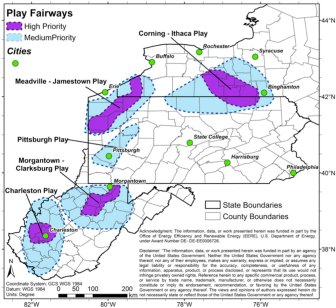 Map showing Geothermal Fairplay Analysis results.
