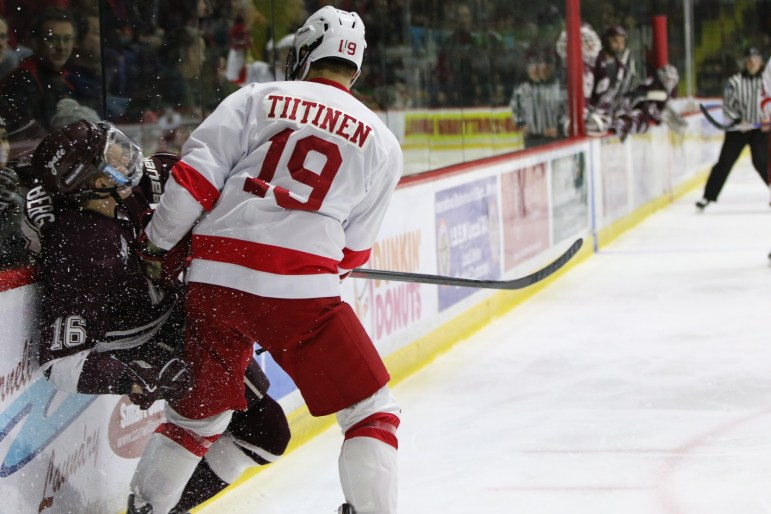 Like Willcox, Teemu Tiitinen was a critical part of the Red's power play kill unit.