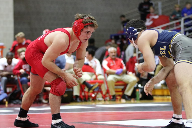 Junior Brian Realbuto entered the NCAA championship as a No. 2 seed, but a torn ACL and MCL ended his title hopes. He did, however, return to the mat despite the injury to pick up some points for the Red.