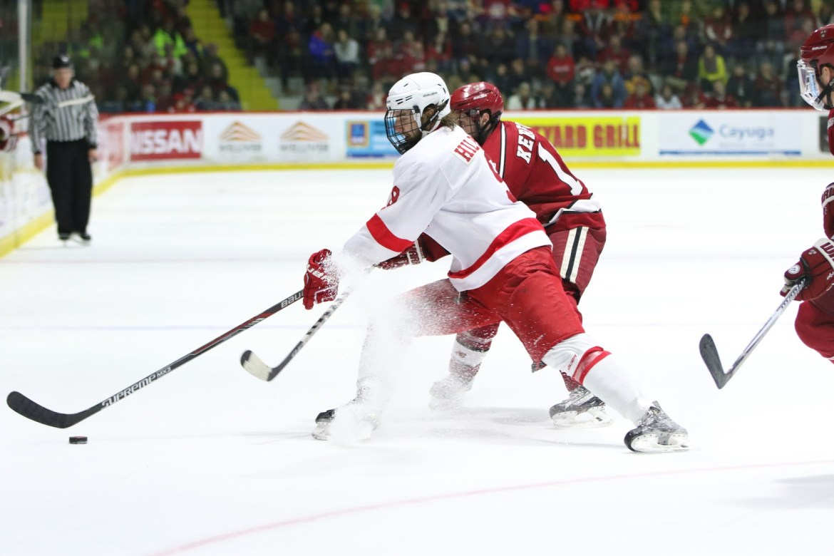 Senior Christian Hillbrich was one of the key leaders for the team both on and off the ice.