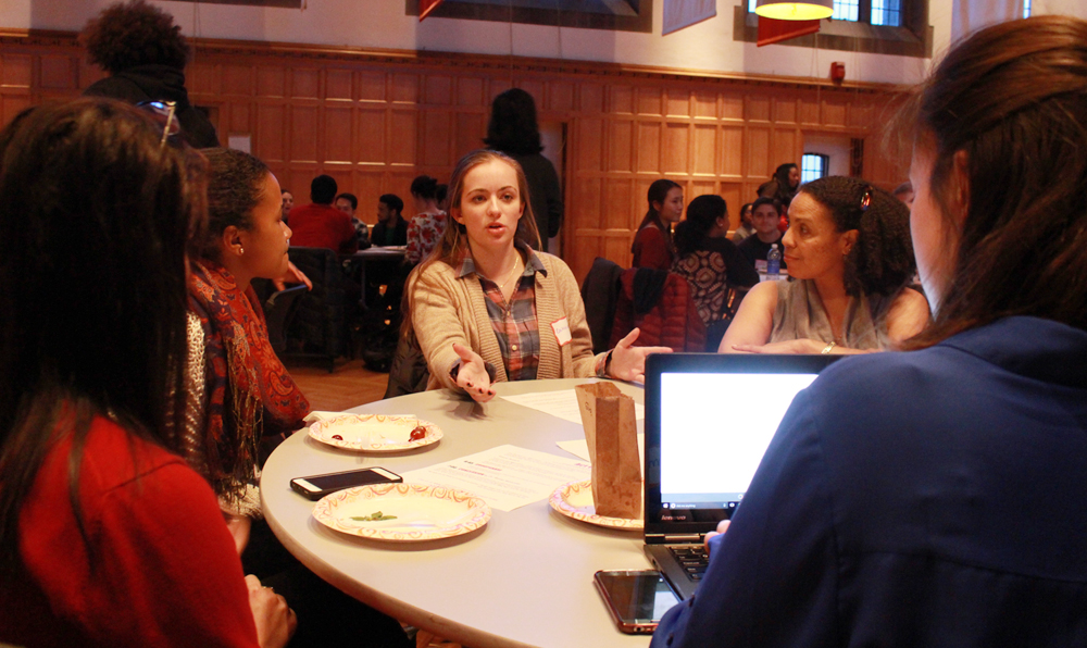 Students propose solutions for issues facing undergraduates at Willard Straight Hall, Tuesday night.