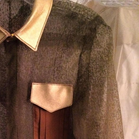 A detail from one of Corley's garments.