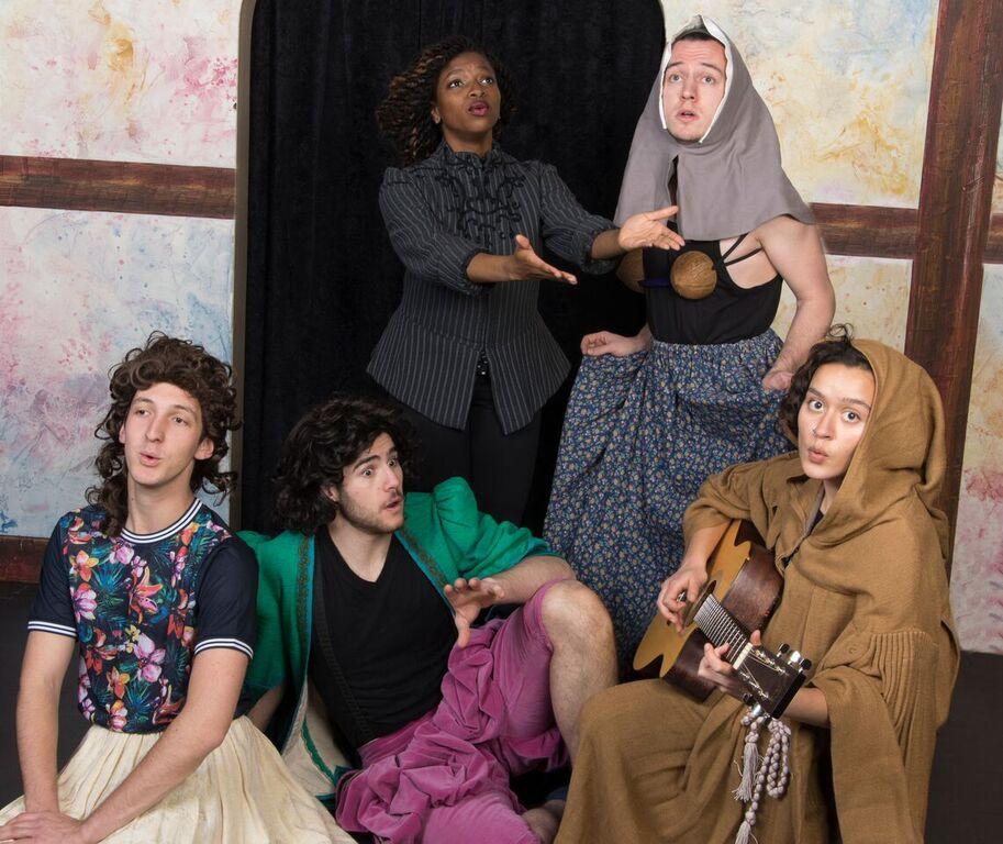 Clockwise, from top-left: Ezioma Asonye, '16, Christian Kelly, '16,  Julie Locker, '16, Sam Morrison, '17, Jacob Kuhn, '18.