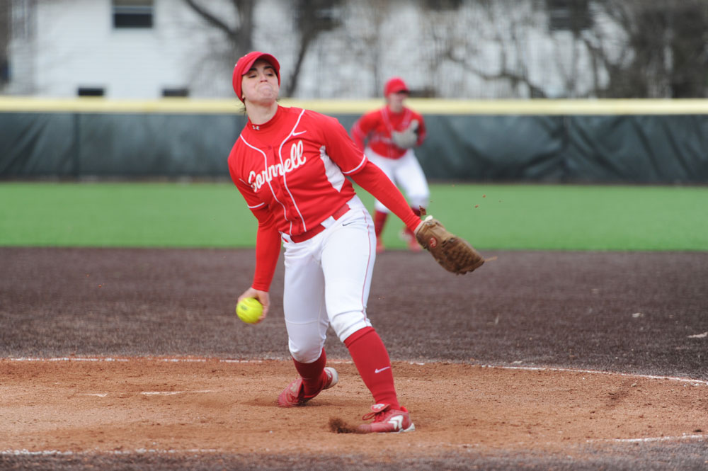 Senior Meg Parker pitched seven innings and didn't allow an earned run, helping Cornell beat Columbia, 7-2.