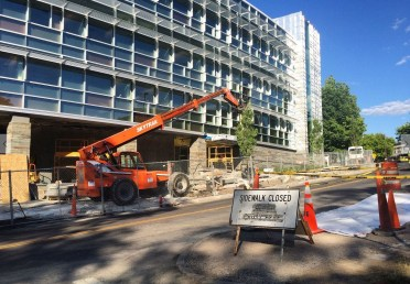 The health facility will double in size after construction finishes, according to administrators.