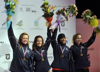 Schneider wins bronze at the 2012 World Championships in Kiev.