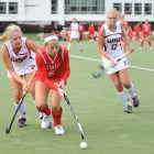 Junior Katie Carlson notched two goals in Cornell's 4-0 over Lock Haven.