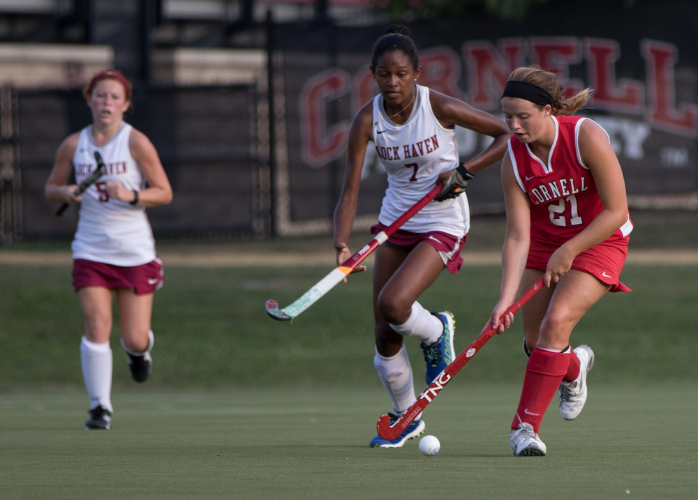 Senior midfielder Elizabeth Horak had two goals in the win against Colgate, to help add to the Red's plus-nine goal differential in its first two games.