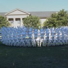 The 'Urchin' is a part of the Cornell Council of the Arts 2016 Biennial celebration and is installed on the Arts Quad.