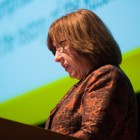 Author Svetlana Alexievich speaks on her writings about the history of the Russian people at Statler Auditorium Monday evening.
