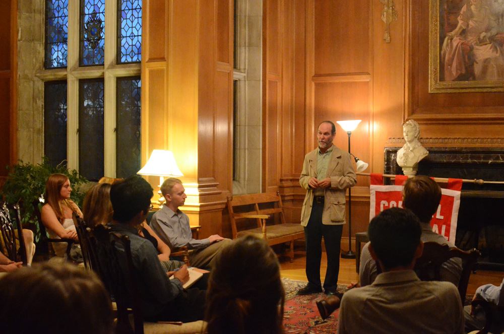 Prof. Evangelista discusses the U.S.'s role in the Syrian conflict Tuesday.