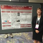 Samantha VanWees presents her poster at IFT's undergraduate research competition
