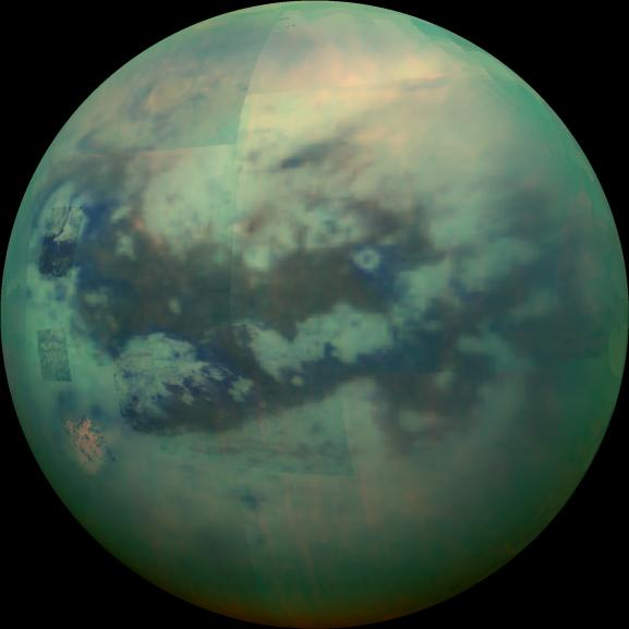 An image of Titan from NASA's Cassini Orbiter