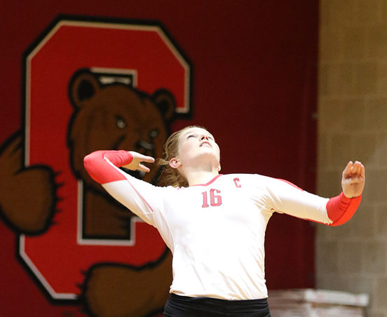 The volleyball team posted a 2-1 record over fall break, topping Binghamton and Penn.