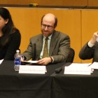 Panelists discussed the strength of partisanship and influence of political parties at a lecture Monday.
