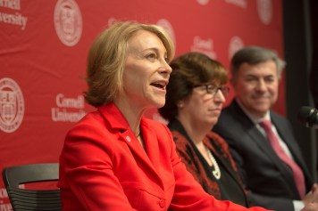 """Jan Rock Zubrow '77 led the search committee that appointed Pollack, praising her as a """"bold strategic leader."""""""