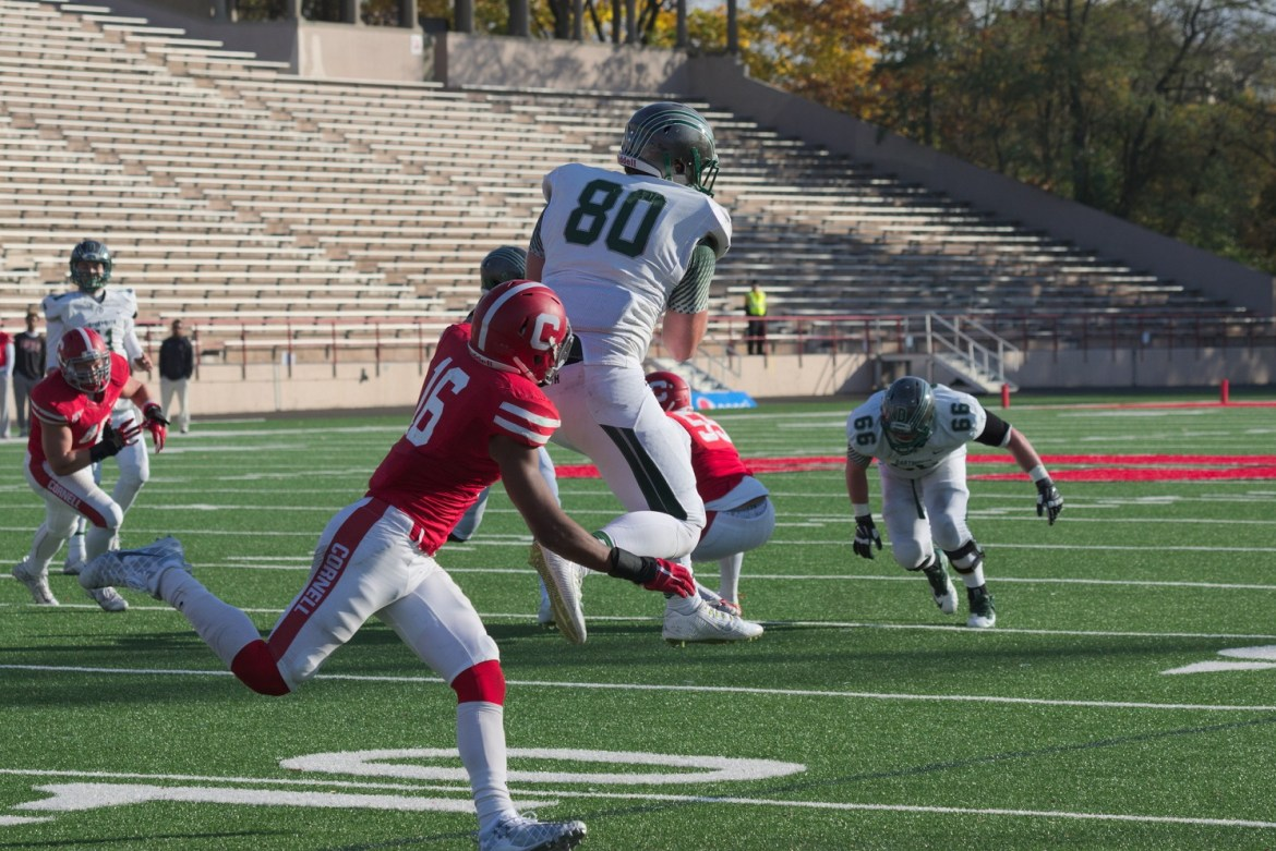Cornell was able to hold Dartmouth's potent air attack to 226 yards, but it was the run game that handed the Red its fifth-straight loss.