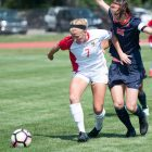 Elizabeth Crowell and the rest of the Reds seniors ended their Cornell careers with a win.
