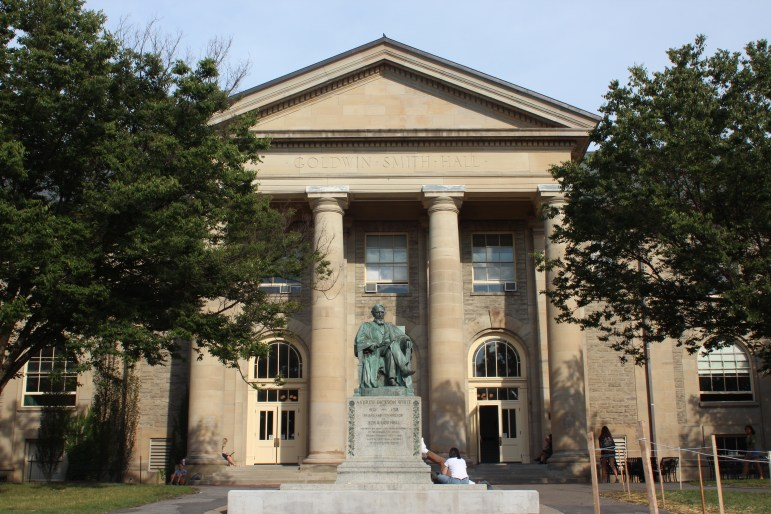 A.D. White Statue in front of Goldwin Smith Hall
