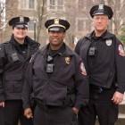 Officer Beverly Van Cleef, left, Lt. Anthony Bellamy and Officer Brett Cary