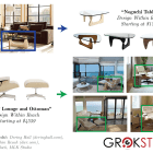 Schematic representation of the information provided by the app on sample pictures of pieces of furniture
