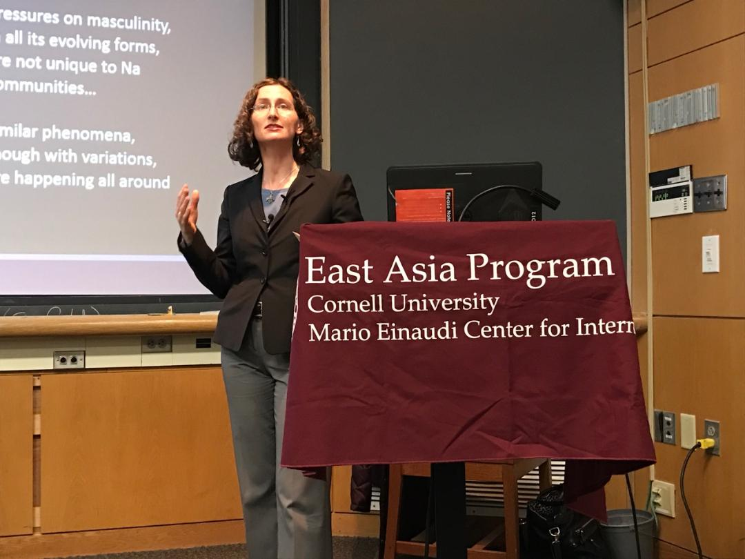 At a lecture Monday, Prof. Tami Blumenfield, anthropology, Furman University, presented her anthropological field research on femininity and marriage in Yunan, China.