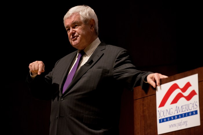 Former House Speaker Newt Gingrich praised Cornell students for their attentiveness during a lecture at Call Auditorium on Wednesday evening.