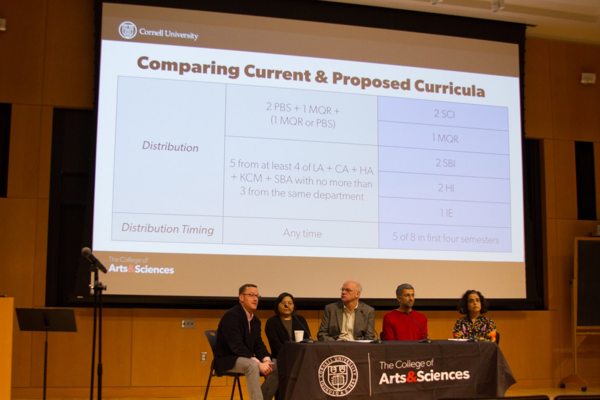 The new curriculum, presented Thursday by the Curriculum Committee, would center around five modes of inquiry: mathematical and quantitative reasoning, scientific, social and behavioral, and humanistic and interdisciplinary.