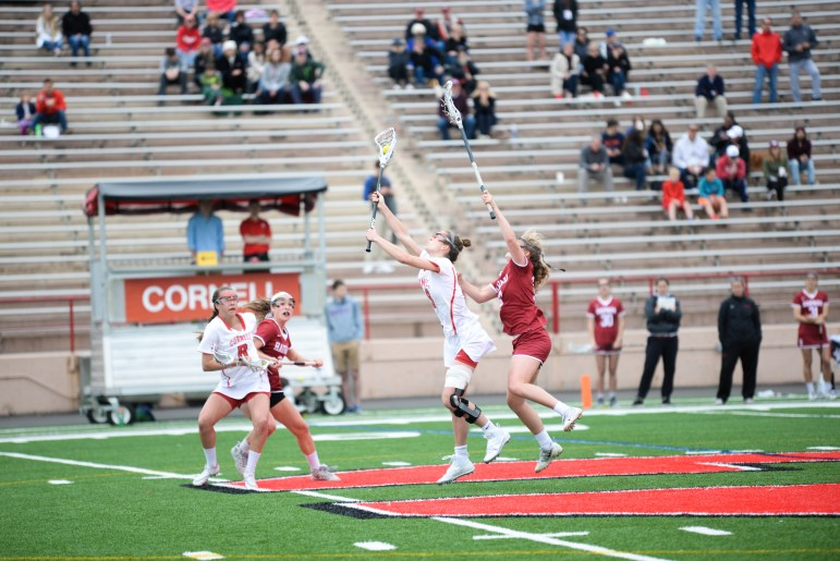 Women's Lacrosse faces Harvard on Saturday, April 29.