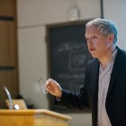 Prof. Harry Segal, psychology, discussed his conception of the human sense of self in a 'Last Lecture' on Wednesday.