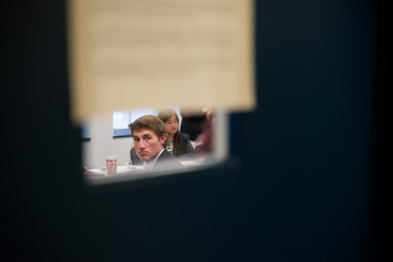The University Hearing Board said on Wednesday that Mitch McBride '17 did not violate the Campus Code of Conduct when he shared internal working group documents with The Sun