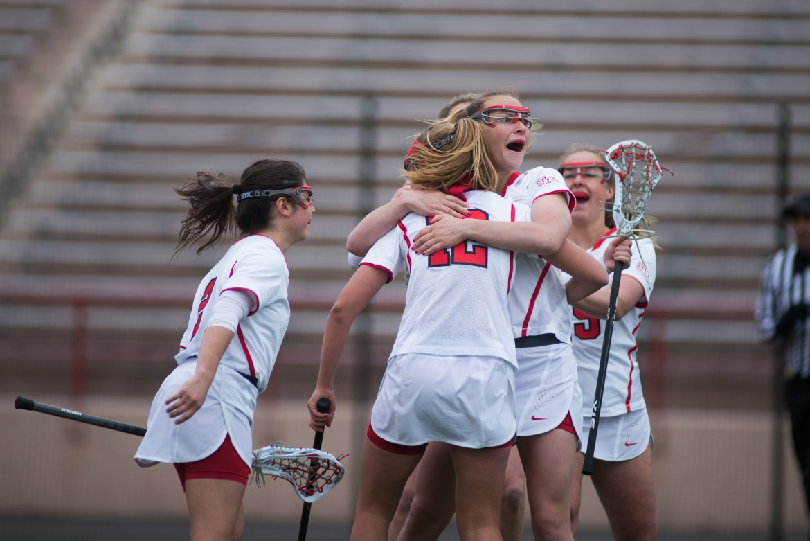 It was a banner day for the women's lacrosse team.