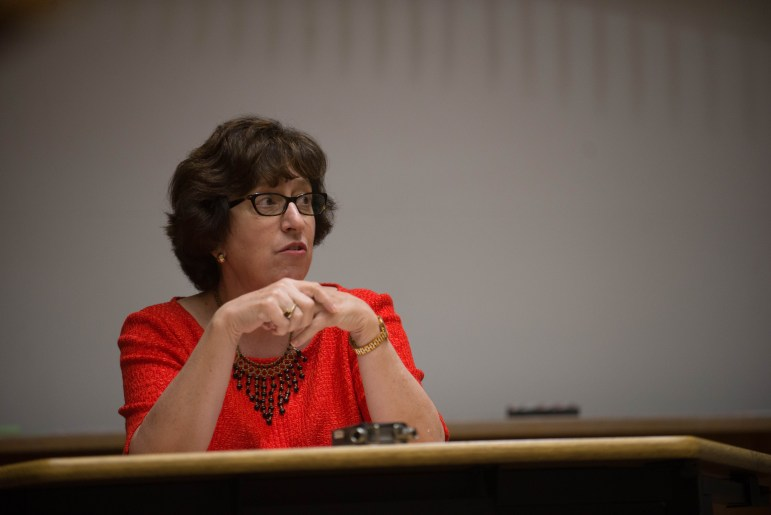 Two weeks into her presidency, the former University of Michigan provost answered questions at the Graduate and Professional Student Assembly meeting on Monday.
