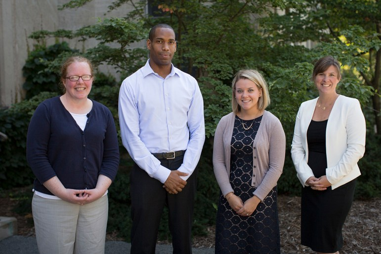 Members of Cornell's Title IX staff as of last August. Doe accused both Investigator Elizabeth McGrath (far left) and Investigator Kareem Peat (mid left) of taking missteps in the Title IX investigation.