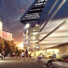 Cornell Tech's Roosevelt Island campus, as depicted in this rendering, has announced a partnership with Microsoft.