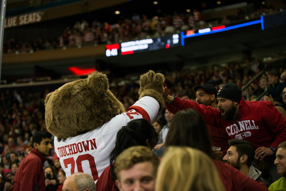 Touchdown the Bear is a staple for the Cornell community.