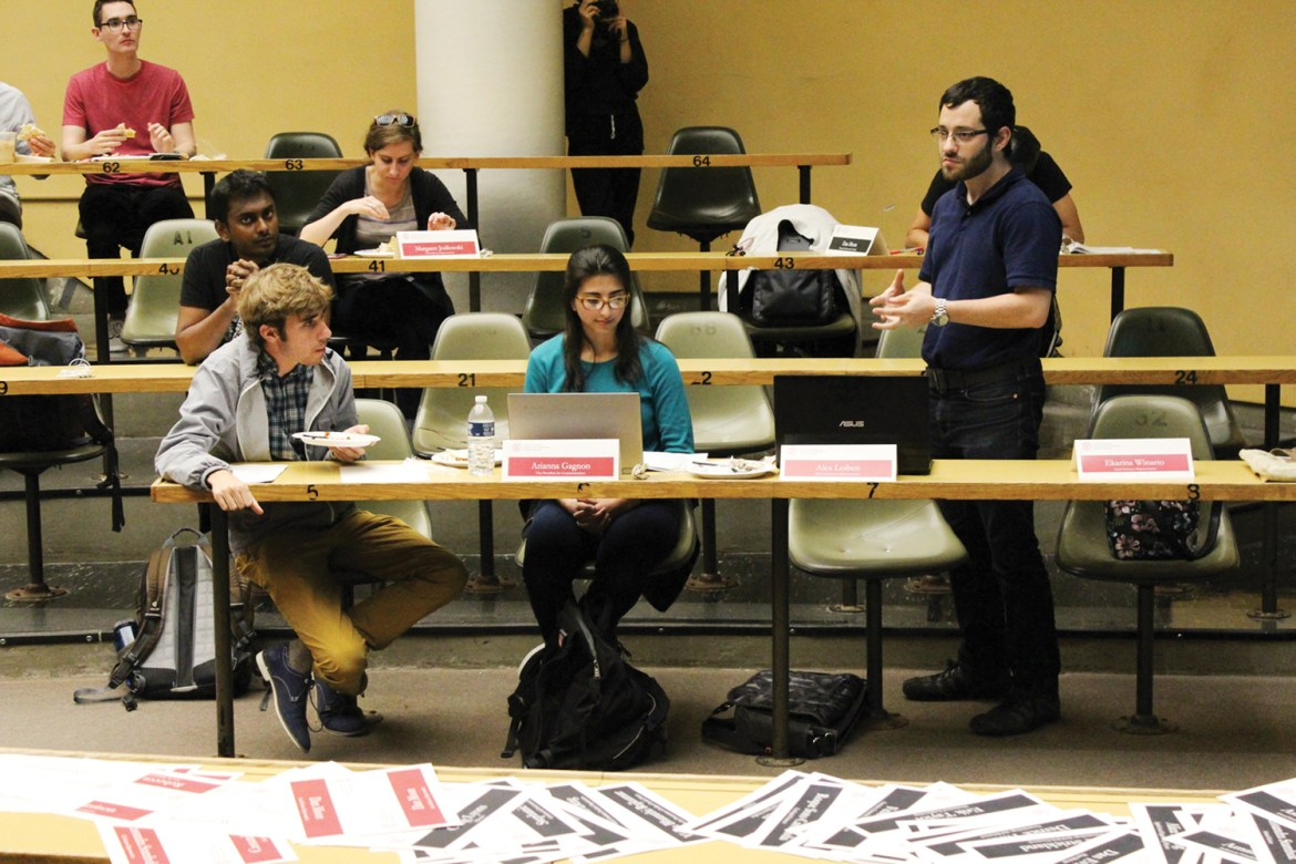 At their most recent meeting, graduate students follow the S.A. in passing resolutions to ban hate speech.