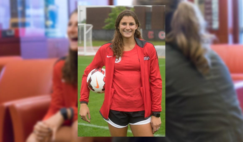 Senior defender Whitney Farber.